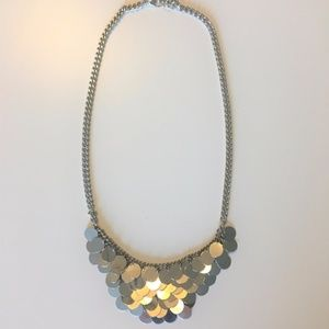 Sparkly Silver Costume Necklace Adjustable Length